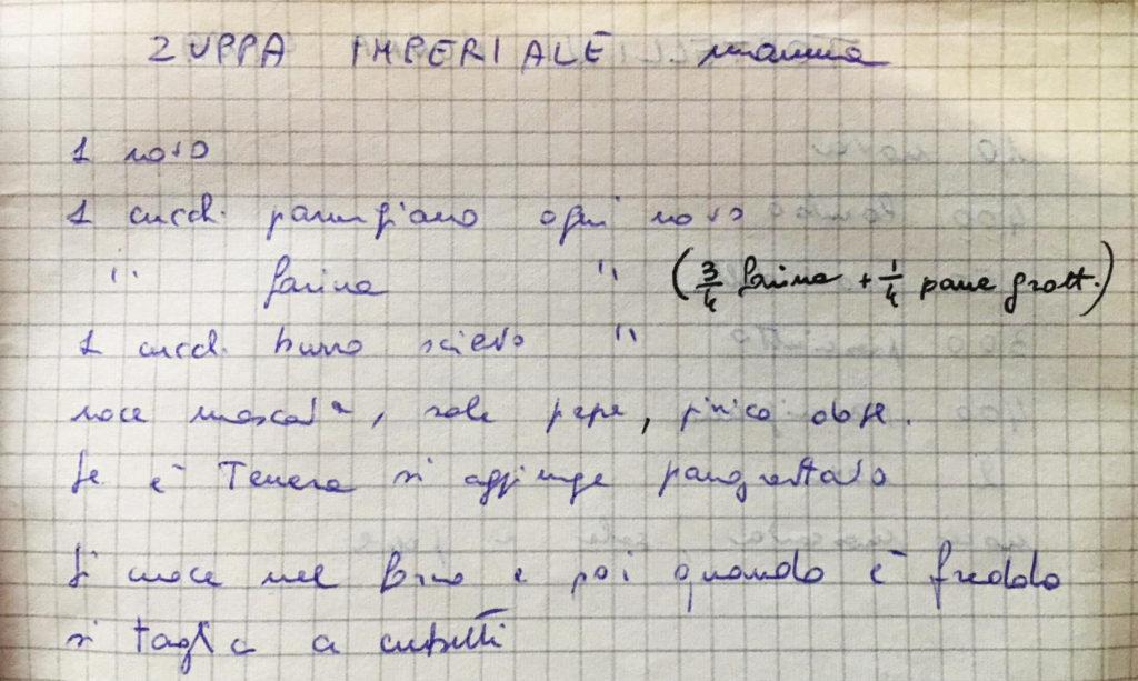 Ricetta zuppa imperiale tradizionale di Bologna